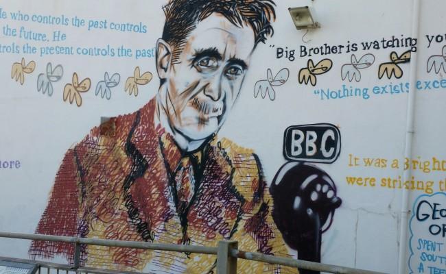 George Orwell street art