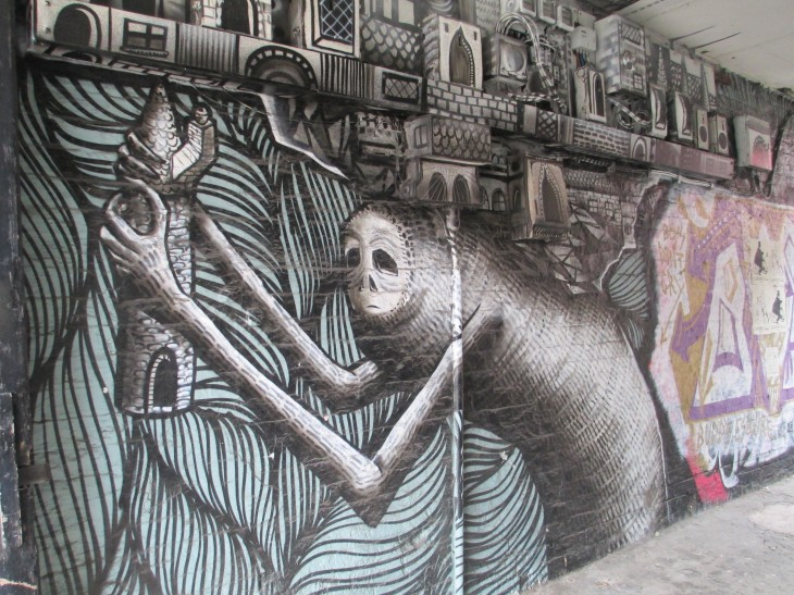Wall mural by Phlegm