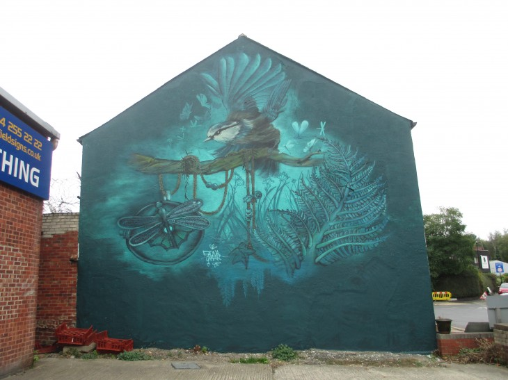 Faunagraphic mural in the Antiques Quarter