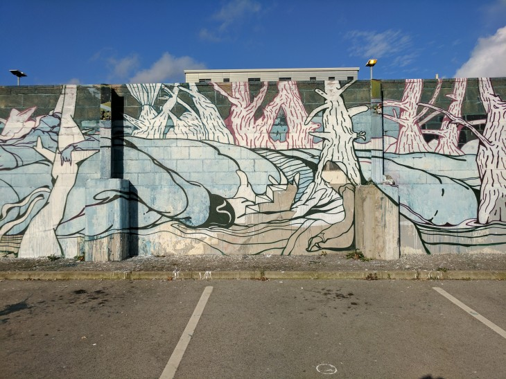 Will Barras wall mural in Sheffield