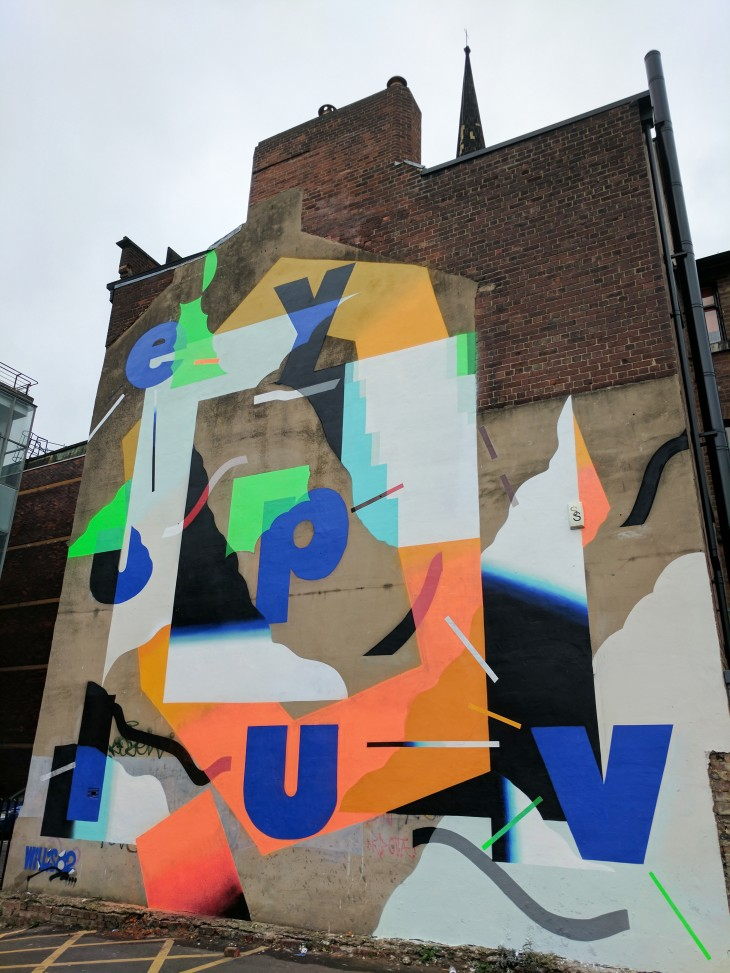 Roid wall mural in Sheffield