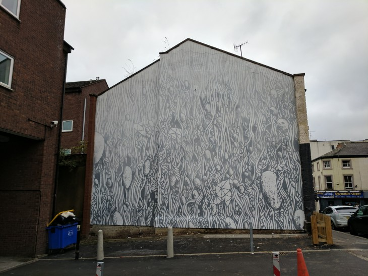 "Tellas' ""Fog"" wall mural in Sheffield"