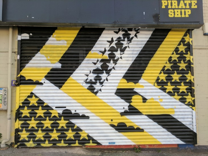 Pirate Ship shop shutters