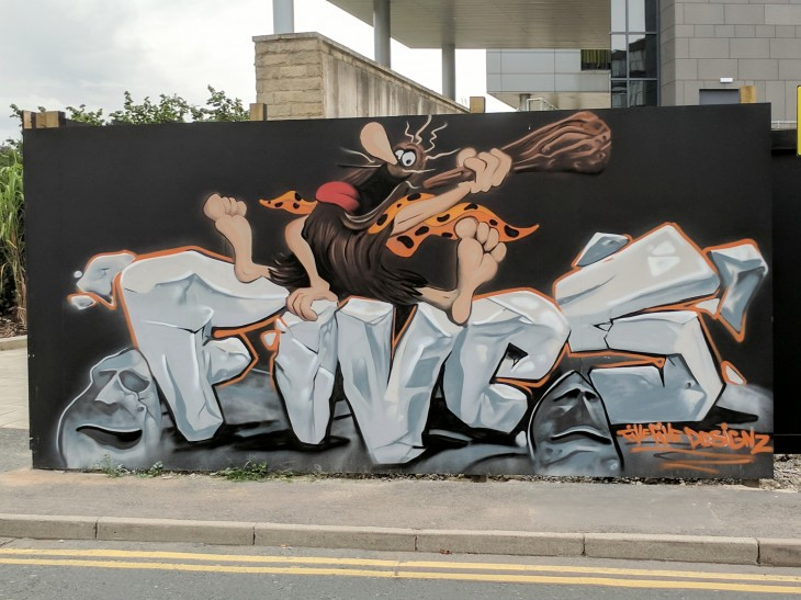 Captain Caveman street art
