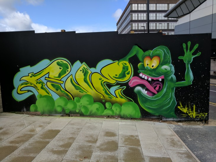Slimer graffiti