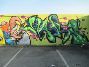Earthworm Jim street art