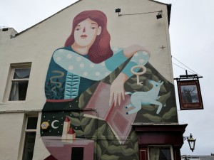 Frau Isa's Red Deer Mural