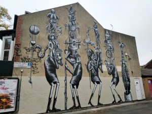 Phlegm Sheffield wall mural