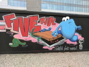 Trap Door graffiti