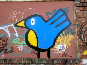 Bird graffiti