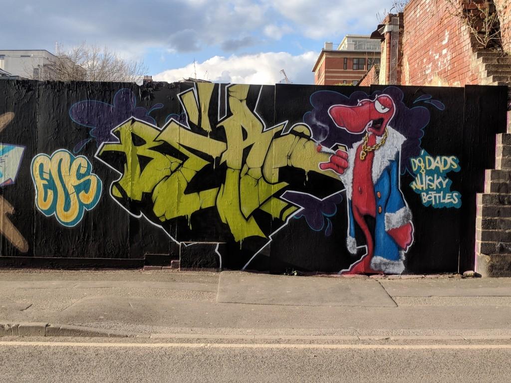 Wellington street graffiti spring 2018